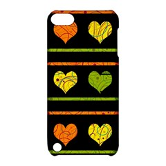 Colorful harts pattern Apple iPod Touch 5 Hardshell Case with Stand