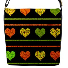 Colorful harts pattern Flap Messenger Bag (S)