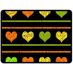 Colorful harts pattern Double Sided Fleece Blanket (Large)