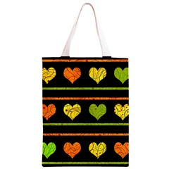 Colorful harts pattern Classic Light Tote Bag