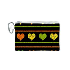 Colorful harts pattern Canvas Cosmetic Bag (S)