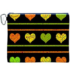 Colorful harts pattern Canvas Cosmetic Bag (XXXL)