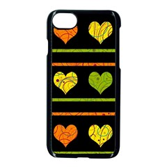 Colorful Harts Pattern Apple Iphone 7 Seamless Case (black)