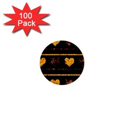 Yellow harts pattern 1  Mini Buttons (100 pack)
