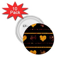 Yellow harts pattern 1.75  Buttons (10 pack)