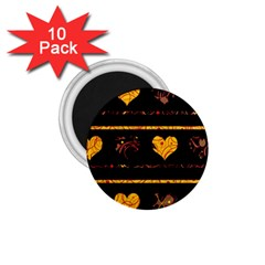 Yellow harts pattern 1.75  Magnets (10 pack)