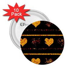 Yellow harts pattern 2.25  Buttons (10 pack)