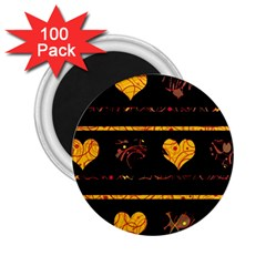 Yellow harts pattern 2.25  Magnets (100 pack)
