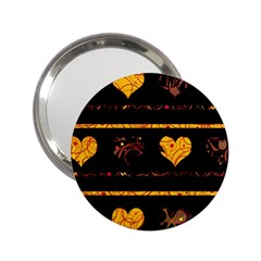 Yellow harts pattern 2.25  Handbag Mirrors