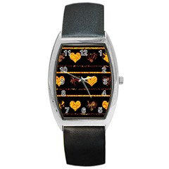 Yellow harts pattern Barrel Style Metal Watch