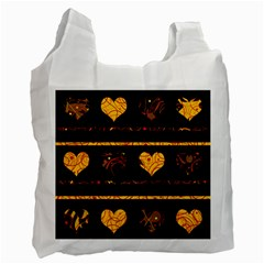 Yellow harts pattern Recycle Bag (Two Side)