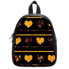 Yellow harts pattern School Bags (Small)