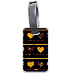 Yellow harts pattern Luggage Tags (One Side)