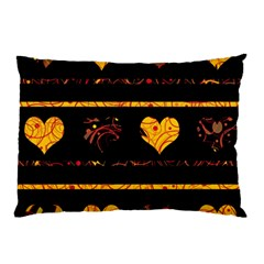 Yellow harts pattern Pillow Case (Two Sides)