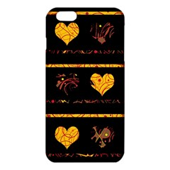 Yellow harts pattern iPhone 6 Plus/6S Plus TPU Case