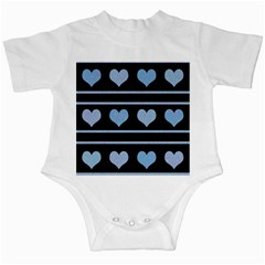 Blue harts pattern Infant Creepers
