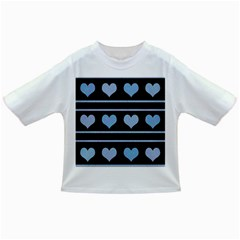 Blue harts pattern Infant/Toddler T-Shirts