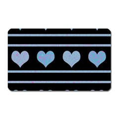 Blue harts pattern Magnet (Rectangular)