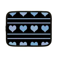 Blue harts pattern Netbook Case (Small)