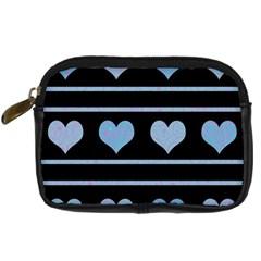 Blue harts pattern Digital Camera Cases