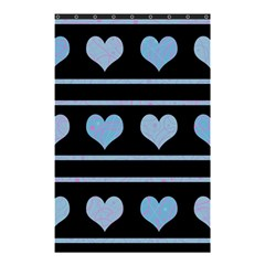Blue harts pattern Shower Curtain 48  x 72  (Small)