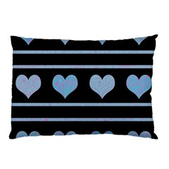 Blue harts pattern Pillow Case (Two Sides)