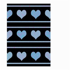 Blue harts pattern Small Garden Flag (Two Sides)