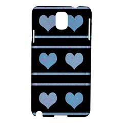 Blue harts pattern Samsung Galaxy Note 3 N9005 Hardshell Case