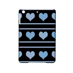 Blue harts pattern iPad Mini 2 Hardshell Cases