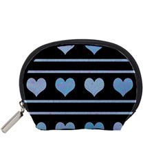 Blue harts pattern Accessory Pouches (Small)