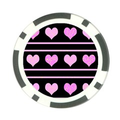 Pink harts pattern Poker Chip Card Guards (10 pack)
