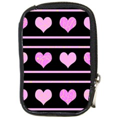 Pink harts pattern Compact Camera Cases