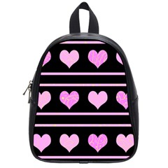 Pink harts pattern School Bags (Small)