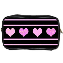 Pink harts pattern Toiletries Bags
