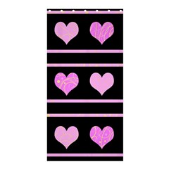 Pink harts pattern Shower Curtain 36  x 72  (Stall)
