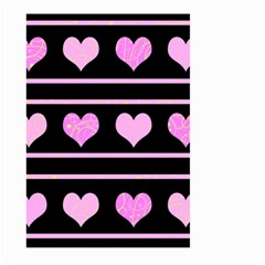 Pink harts pattern Large Garden Flag (Two Sides)