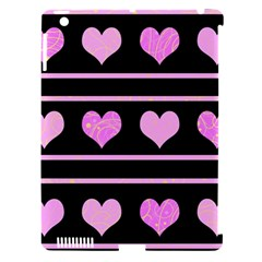 Pink harts pattern Apple iPad 3/4 Hardshell Case (Compatible with Smart Cover)