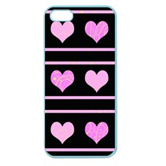 Pink harts pattern Apple Seamless iPhone 5 Case (Color)