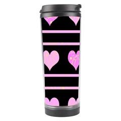 Pink harts pattern Travel Tumbler