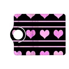 Pink harts pattern Kindle Fire HD (2013) Flip 360 Case