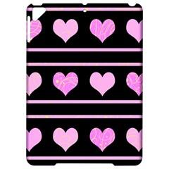 Pink Harts Pattern Apple Ipad Pro 9 7   Hardshell Case