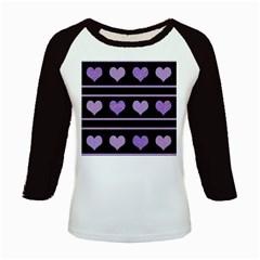 Purple harts pattern Kids Baseball Jerseys