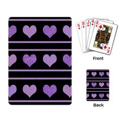 Purple harts pattern Playing Card