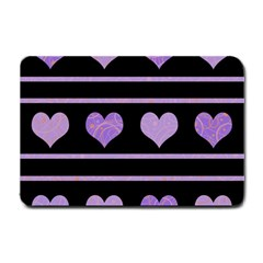 Purple harts pattern Small Doormat
