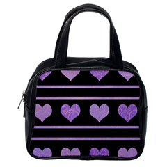 Purple harts pattern Classic Handbags (One Side)