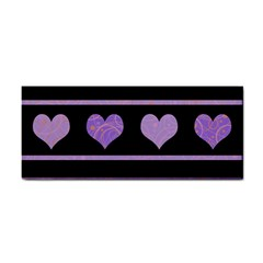 Purple harts pattern Cosmetic Storage Cases