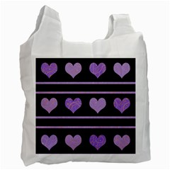 Purple harts pattern Recycle Bag (One Side)