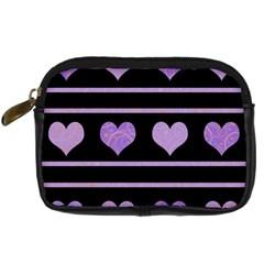 Purple harts pattern Digital Camera Cases