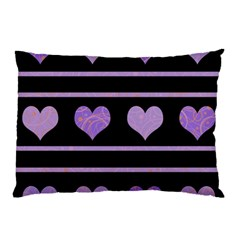 Purple harts pattern Pillow Case (Two Sides)