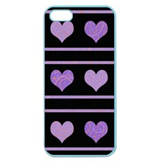 Purple harts pattern Apple Seamless iPhone 5 Case (Color)